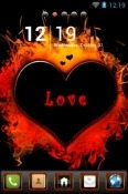 Love On Fire Go Launcher Motorola Moto G 5G Plus Theme