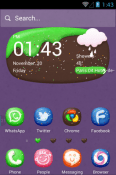 Sweet Dishes Hola Launcher Android Mobile Phone Theme