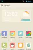 Early Spring Snow Hola Launcher HTC Wildfire E2 Theme