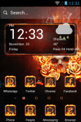 The Flame Skull Hola Launcher Android Mobile Phone Theme