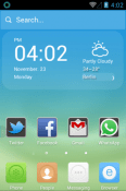 The Subtle Blue Hola Launcher HTC Wildfire E2 Theme