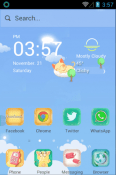 Kitty Blue Hola Launcher Android Mobile Phone Theme