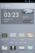 Pale Style Hola Launcher Android Mobile Phone Theme