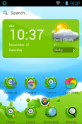 MonsterOce Hola Launcher BLU Life Mark Theme