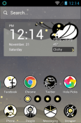 Circle Planet Hola Launcher Lava Iris Fuel F1 Mini Theme