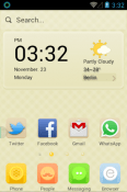 Peachy Peach Hola Launcher QMobile Smart View Max Theme