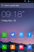 Flat Icon Style Hola Launcher QMobile Smart View Max Theme