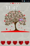 Tree Of Hearts Go Launcher Android Mobile Phone Theme