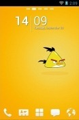 Download Free Angry Birds Yellow Go Launcher Mobile Phone Themes