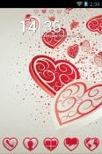 Download Free Falling Hearts Go Launcher Mobile Phone Themes