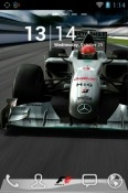Formula One Go Launcher Android Mobile Phone Theme