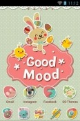 Good Mood Go Launcher Lava Iris Atom X Theme