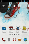 Skater Boy Go Launcher QMobile Noir W7 Theme