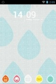 Showering Water Drops Go Launcher YU Yunicorn Theme