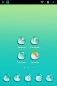 Download Free Water Drops Go Launcher Mobile Phone Themes