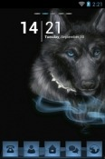 Black Wolf Go Launcher Android Mobile Phone Theme