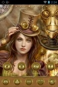 Download Free Steampunk Girl Go Launcher Mobile Phone Themes