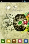 Brain Go Launcher Realme 7 5G Theme