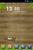 Wood Go Launcher Android Mobile Phone Theme