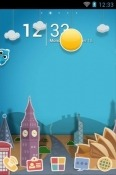 Paper Town Go Launcher Android Mobile Phone Theme