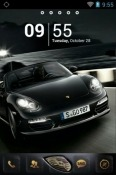 Download Free Black Porsche Go Launcher Mobile Phone Themes