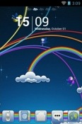 Rainbowz Go Launcher Motorola Nexus 6 Theme