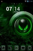 Alien Go Launcher Android Mobile Phone Theme