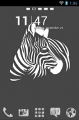 Zebra Art Go Launcher Motorola Nexus 6 Theme
