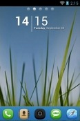 Grass N Sky Go Launcher Lava Iris Fuel F1 Mini Theme