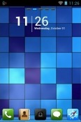 Blue Pixels Go Launcher Lava Iris Fuel F1 Mini Theme