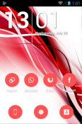 Flatcons Red Icon Pack Tecno Spark Plus Theme