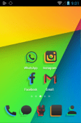 Silhouette Icon Pack Xiaomi Redmi Note 8T Theme