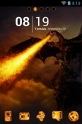 Dragon Fire Go Launcher Asus Zenfone Max Shot ZB634KL Theme