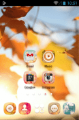 Gold Autumn Go Launcher BlackBerry Priv Theme