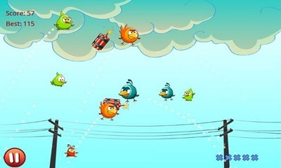 Download Cut the Birds Android Mobile Phone Game - MobileSMSPK.net