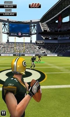 NFL Flick Quarterback Android Game Image 1