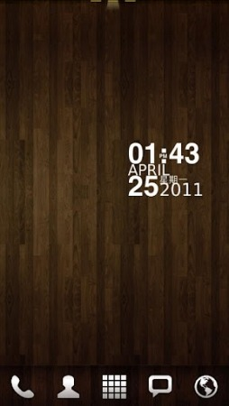 Wood GO Launcher EX Android Theme Image 1