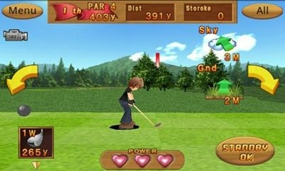 Cup! Cup! Golf 3D! Android Game Image 1