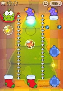 Cut the Rope Holiday Gift iOS Game Image 2