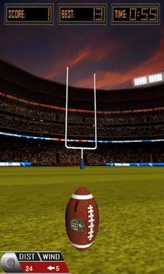 3D Flick Field Goal Android Game Image 1