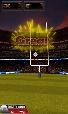 3D Flick Field Goal Android Game Image 2