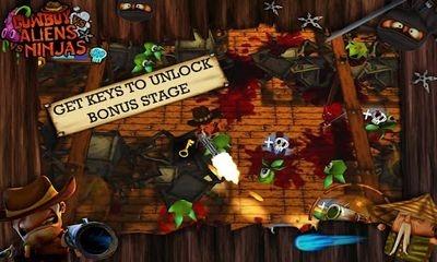 Cowboy vs. Ninjas vs. Aliens Android Game Image 1