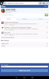 Firefox Browser for Android Android Application Image 1