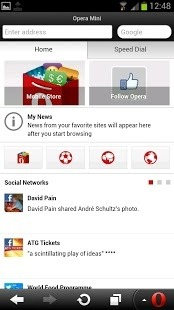 Opera Mini browser for Android Android Application Image 2