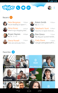 Skype - free IM & video calls Android Mobile Phone Application Image 1