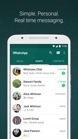 WhatsApp Messenger Android Mobile Phone Application Image 1