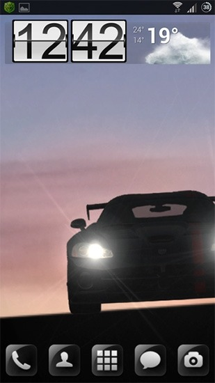 Racing Car Android Wallpaper Image 1