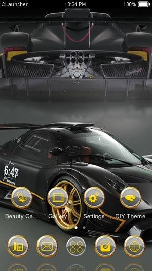 Pagani Zonda R CLauncher Android Theme Image 2