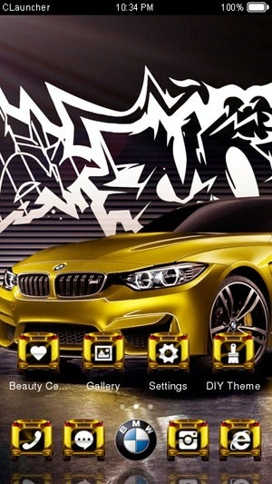 BMW M4 CLauncher Android Theme Image 1