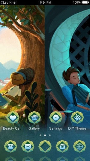 Broken Age CLauncher Android Theme Image 1